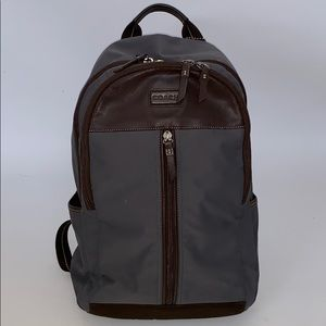 Coach Varick Nylon w/Leather trim Backpack